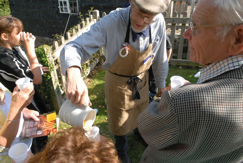 Volunteers at our annual apple pressing